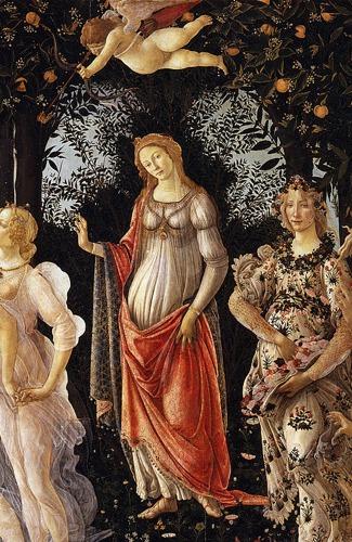 Primavera detail 1 Botticellis Primavera