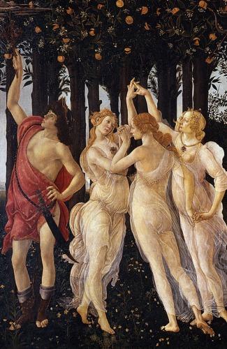 Primavera detail 2 Botticellis Primavera