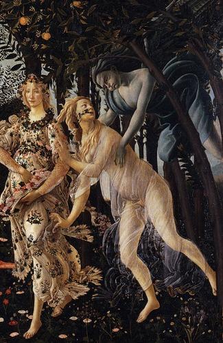 Primavera detail 3 Botticellis Primavera