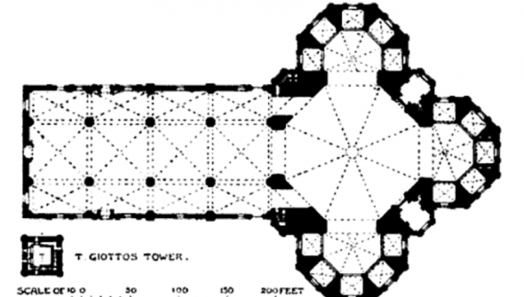 Florence cathedral plan 590x335 Cathedral of Santa Maria del Fiore in Florence