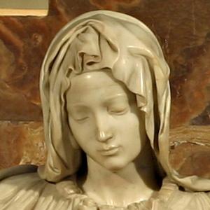 Michelangelo pieta detail 2 300x300 Michelangelos Pieta