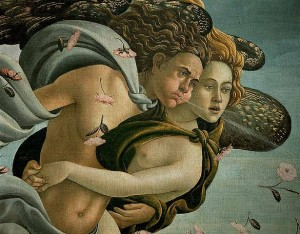 How did sandro botticelli look back to the classical past in his painting