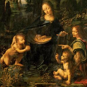 Leonardo-Virgin-Rocks-detail