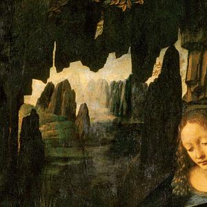 Leonardo-Virgin-Rocks-detail2