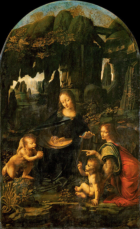Leonardo da Vinci, Virgin of the Rocks, c. 1483, oil on wood