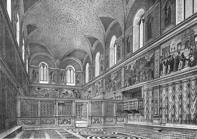 8bd3f78edf6 Sistine Chapel as it appeared before Michelangelo s ceiling fresco