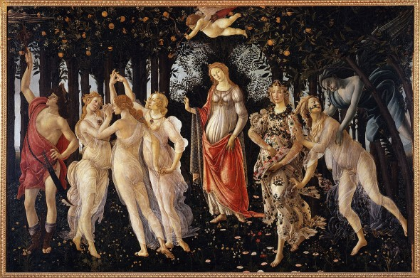 Sandro Botticelli, La Primavera, c. 1482, tempera on wood