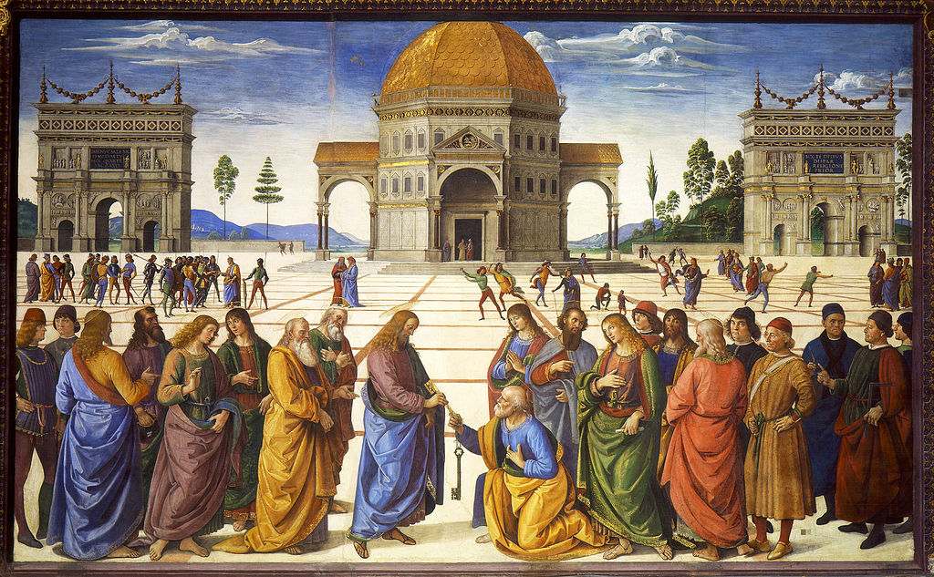 Christ Handing the Keys of the Kingdom to Saint Peter