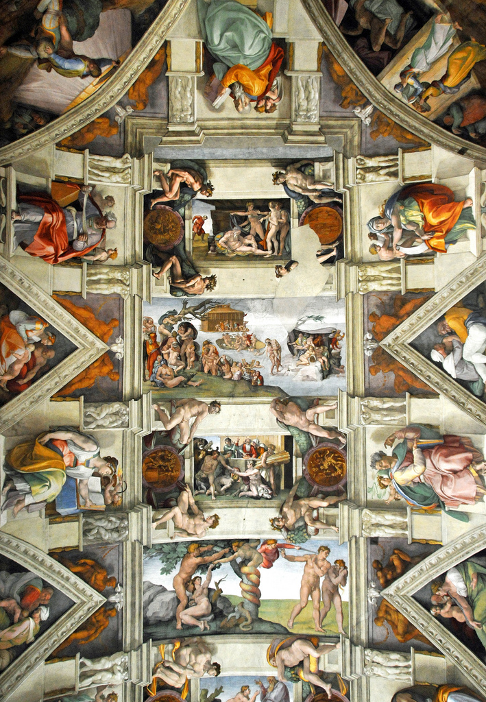 Michelangelo's Painting of the Sistine Chapel Ceiling ...