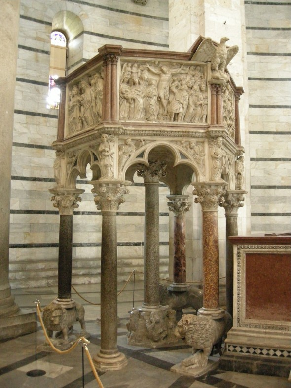 Nicola Pisano, Baptistery Pulpit, Pisa Cathedral, 1259-61