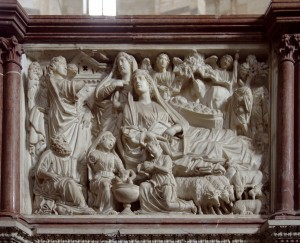 Nicola Pisano Pisa Pulpit 3 300x243 Nicola Pisanos Baptistery Pulpit in Pisa