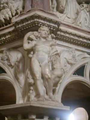 Nicola Pisano Pisa Pulpit 4 300x400 Nicola Pisanos Baptistery Pulpit in Pisa